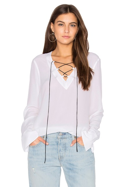 Preload https://img-static.tradesy.com/item/23687852/equipment-white-avianna-lace-up-flared-sleeve-bright-q23-e878a-blouse-size-2-xs-0-0-650-650.jpg