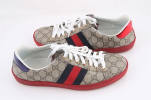 Gucci * Red/Blue Ace Gg Supreme Sneaker Red/Blue Athletic Size US 9.5 Regular (M, B)