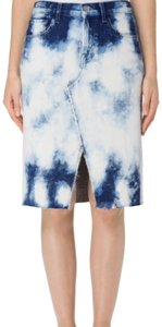 J Brand Skirt blue and white