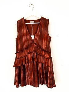 Finders Keepers Minidress Shimmer Ruffle Dress