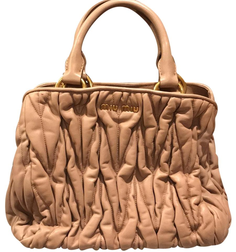Leather Beige Miu Hobo Lambskin Bag Miu Small xgTqnwZf