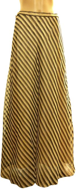 Item - Brown Tan Gold Stripes Collection Skirt Size 12 (L, 32, 33)