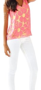 Lilly Pulitzer Top Pink and gold