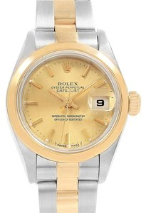 Rolex Rolex Datejust Steel Yellow Gold Ladies Watch 69163 Box Papers