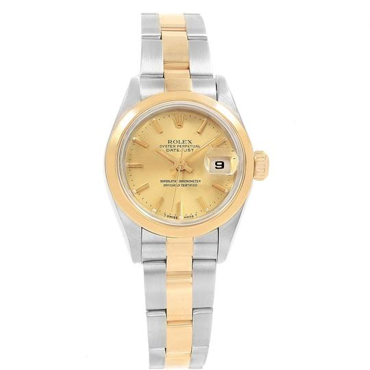 Rolex Rolex Datejust Steel Yellow Gold Ladies Watch 69163 Box Papers Image 1
