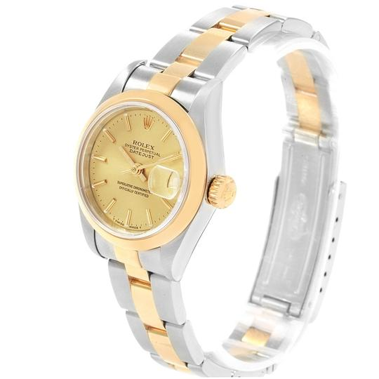 Rolex Rolex Datejust Steel Yellow Gold Ladies Watch 69163 Box Papers Image 3