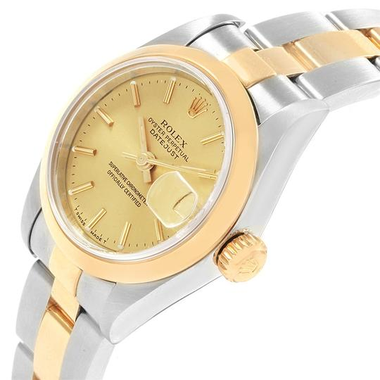 Rolex Rolex Datejust Steel Yellow Gold Ladies Watch 69163 Box Papers Image 4