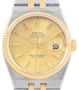 Rolex Rolex Oysterquartz Datejust Steel Yellow Gold Mens Watch 17013 box