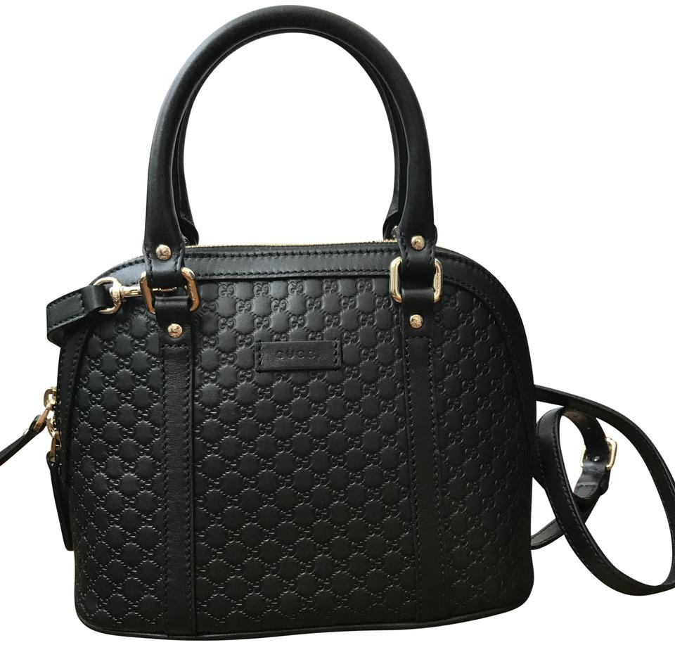 a4f9c66da7a Gucci Dome Gg Microguccissima Convertible Mini Handbag Black Leather Cross  Body Bag