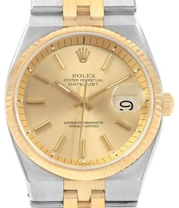 Rolex Rolex Datejust 36 Steel 18K Yellow Gold Mens Watch 1630