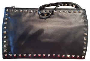 Valentino Rockstud Leather BLACK Clutch