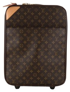 Louis Vuitton Pegase Canvas Brown Travel Bag
