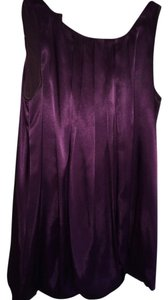 Freeway Apparel Satin Balloon Sleeveless Keyhole Back Tunic