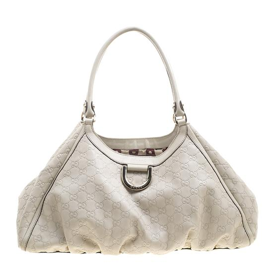 ea62c66d8c0 gucci guccissima large d ring top handle beige leather shoulder bag 47% off  retail. TRADESY