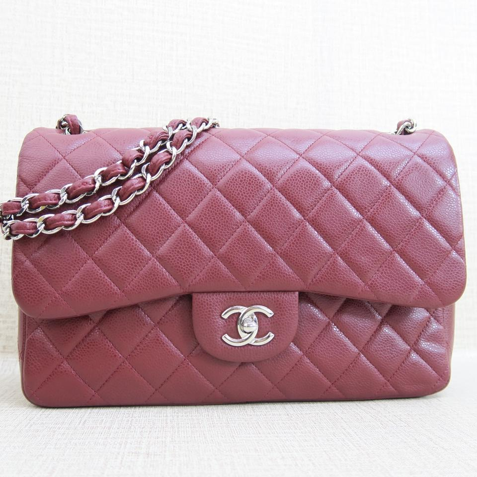 93d5271d6456 Chanel Jumbo Caviar Double Flap Shoulder Bag Image 11. 123456789101112