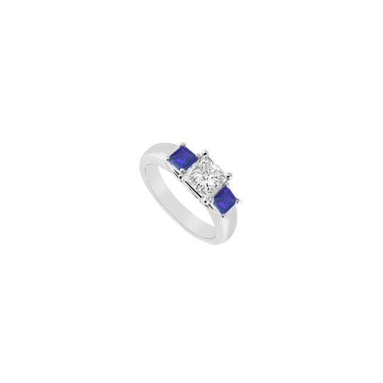 Preload https://img-static.tradesy.com/item/23689277/white-blue-three-stone-cubic-zirconia-and-created-sapphire-sterling-silver-ring-0-0-540-540.jpg