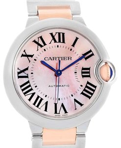 Cartier Cartier Ballon Bleu 36 Midsize Steel Rose Gold MOP Ladies W6920070