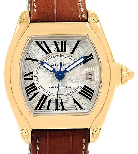 Preload https://img-static.tradesy.com/item/23689302/cartier-silver-roadster-18k-yellow-gold-large-mens-w62005v2-box-papers-watch-0-1-540-540.jpg