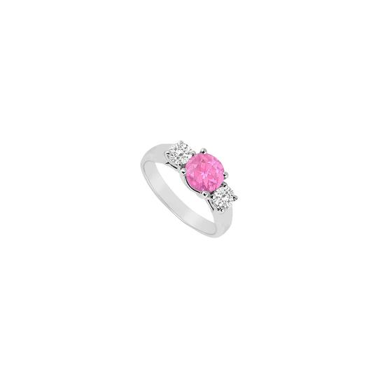 Preload https://img-static.tradesy.com/item/23689513/white-pink-created-sapphire-and-cz-three-stone-sterling-silver-ring-0-0-540-540.jpg