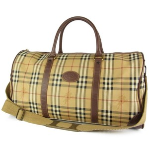 Burberry Boston Keepall Duffle Bandouliere Speedy Beige Travel Bag