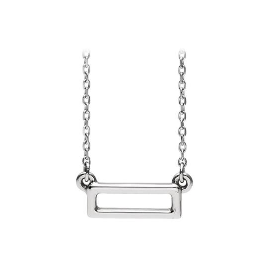 Preload https://img-static.tradesy.com/item/23689571/white-925-sterling-silver-open-rectangle-bar-fashion-necklace-0-0-540-540.jpg