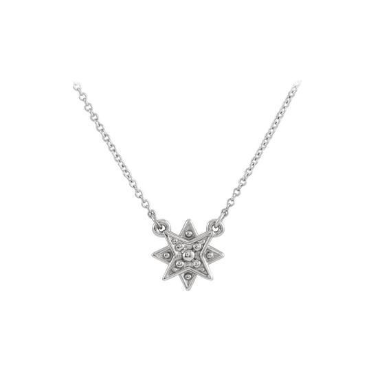 Preload https://img-static.tradesy.com/item/23689577/white-925-sterling-silver-star-with-matching-chain-necklace-0-0-540-540.jpg