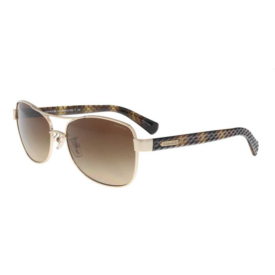 05b850e725 ... coupon code for coach coach light gold brown aviator sunglasses df12a  2ebea