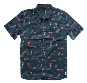 LRG Button Down Shirt Black