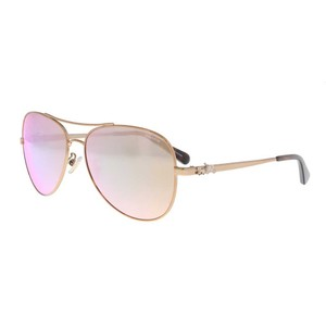 Coach Coach Rose Gold Aviator Sunglasses