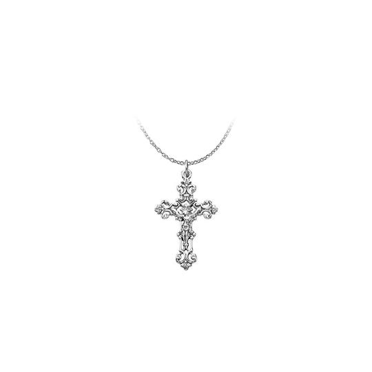Preload https://img-static.tradesy.com/item/23689642/white-religious-cross-pendant-crafted-in-925-sterling-silver-necklace-0-0-540-540.jpg
