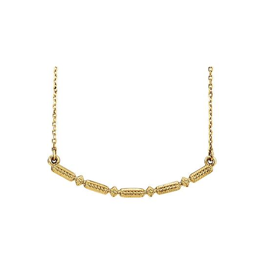Preload https://img-static.tradesy.com/item/23689690/yellow-gold-vermeil-beaded-bar-fashion-necklace-0-0-540-540.jpg