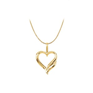 DesignerByVeronica Valentine Exclusive Yellow Gold Vermeil Heart Pendant