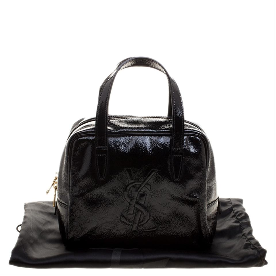 Satchel Black Patent Laurent Saint Leather qwIXpXR