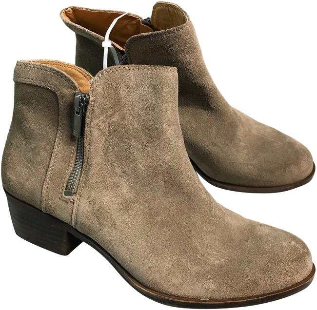 Lucky Brand Tan Suede Ankle Boots 8.5m New Platforms Size US 8.5 Regular (M, B) Lucky Brand Tan Suede Ankle Boots 8.5m New Platforms Size US 8.5 Regular (M, B) Image 1