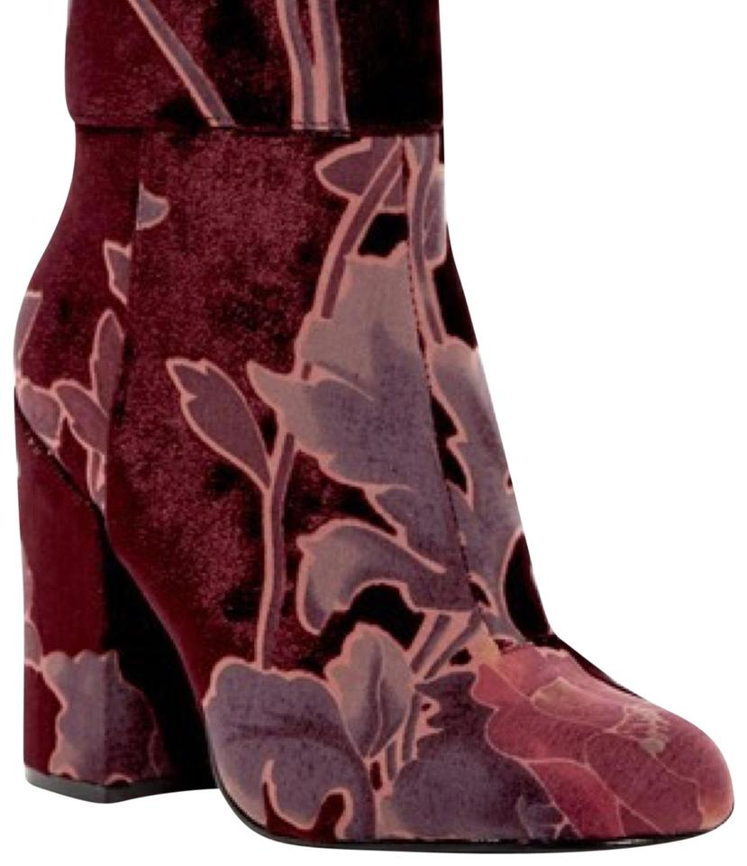 3ce121f619a Steve Madden Burgundy Goldie Block Heel Boots Booties Size US 7.5 ...