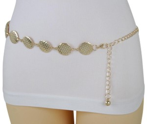 Alwaystyle4you Gold Metal Chain Women Belt Round Circle Charms Hip Waist Accessories