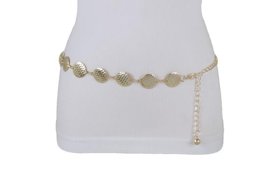 Alwaystyle4you Gold Metal Chain Women Belt Round Circle Charms Hip Waist Accessories Image 2