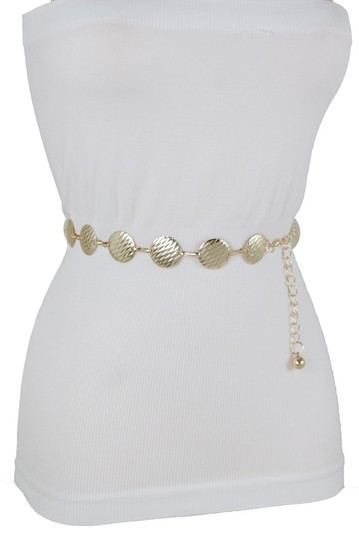 Alwaystyle4you Gold Metal Chain Women Belt Round Circle Charms Hip Waist Accessories Image 3