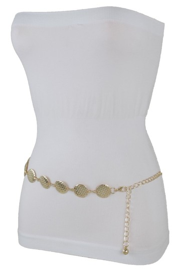 Alwaystyle4you Gold Metal Chain Women Belt Round Circle Charms Hip Waist Accessories Image 4