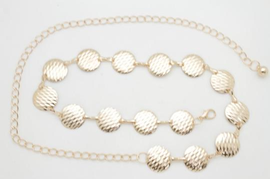 Alwaystyle4you Gold Metal Chain Women Belt Round Circle Charms Hip Waist Accessories Image 5