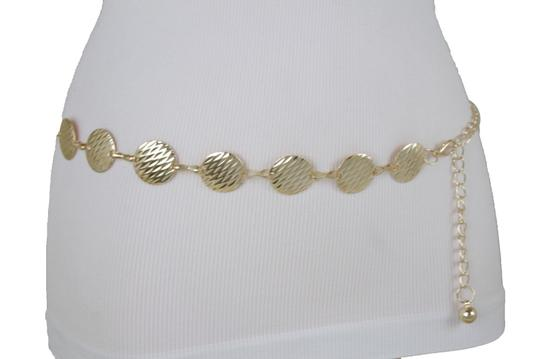 Alwaystyle4you Gold Metal Chain Women Belt Round Circle Charms Hip Waist Accessories Image 6