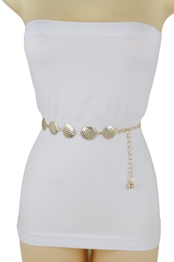 Alwaystyle4you Gold Metal Chain Women Belt Round Circle Charms Hip Waist Accessories Image 7