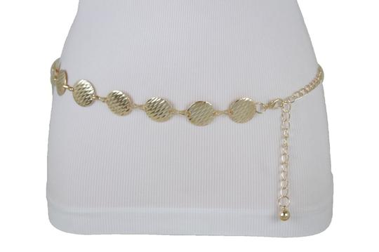 Alwaystyle4you Gold Metal Chain Women Belt Round Circle Charms Hip Waist Accessories Image 8