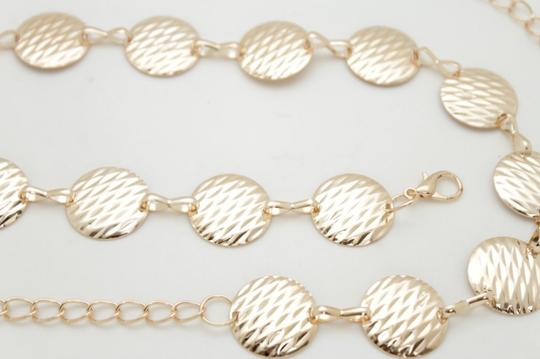 Alwaystyle4you Gold Metal Chain Women Belt Round Circle Charms Hip Waist Accessories Image 9
