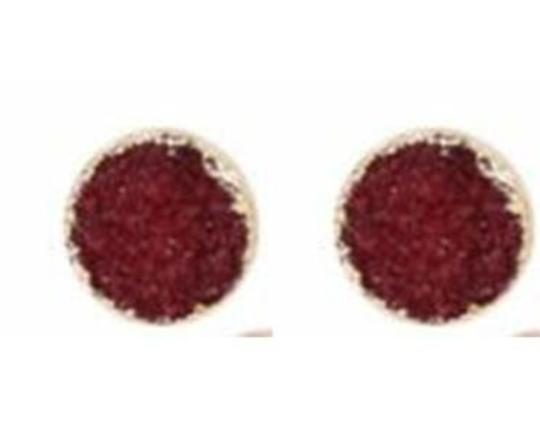 Private Collection Circle Druzy Stone Stud Earrings Image 2