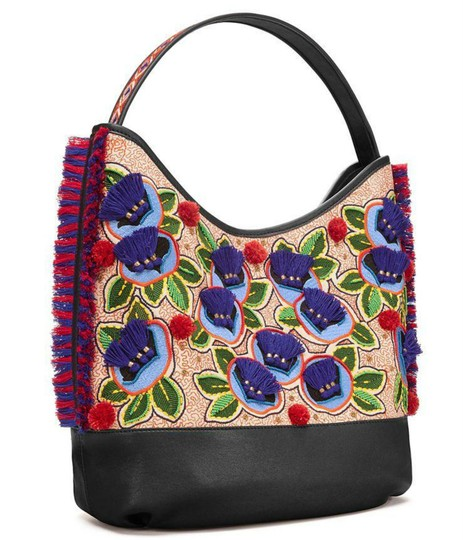 Tory Burch Tote in navy multi Image 3