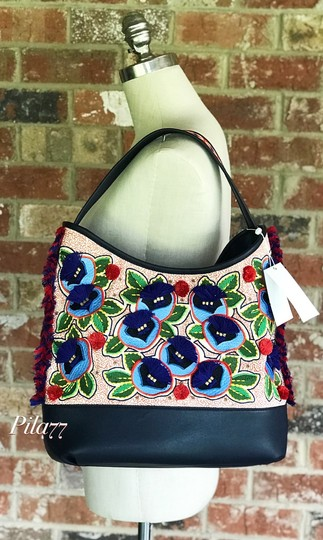 Tory Burch Tote in navy multi Image 6