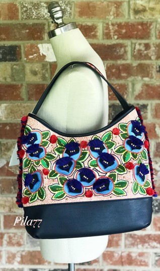 Tory Burch Tote in navy multi Image 7