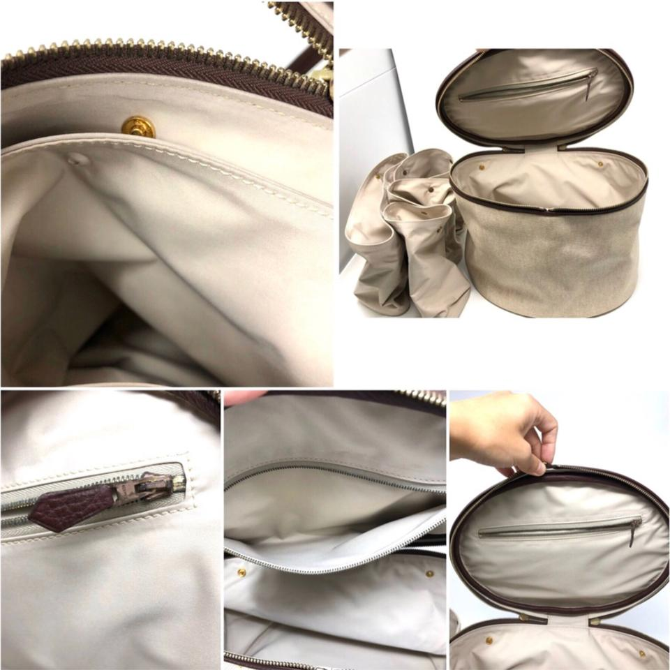 Canvas Satchel Backpack Convertable Hermès Beige RdqnAxT5Rg