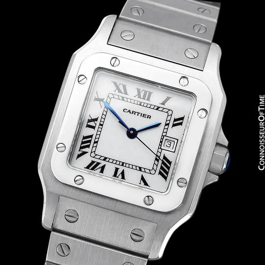 Cartier Cartier Santos Automatique Mens Bracelet Watch - Stainless Steel Image 1